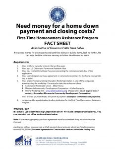 fact-sheet-first-time-home-owner